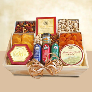 Meat & Cheese Sympathy Gift Crate