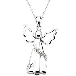 Angel Pendant & Chain