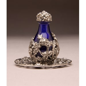 Silver Victorian Tear Bottle with FREE Matching Tray