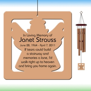 Angel Wind Chime - Personalized