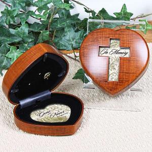 In Memory Heart Shaped Music Box
