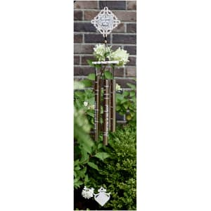 "Sympathy Gift Vintage Wind Chime - ""I Have You In My Heart"""