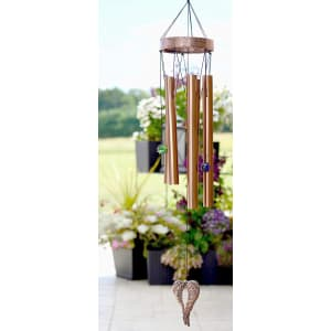 """On Angel's Wings"" Sympathy Gift Wind Chime to Send for Funeral Or Memorial"