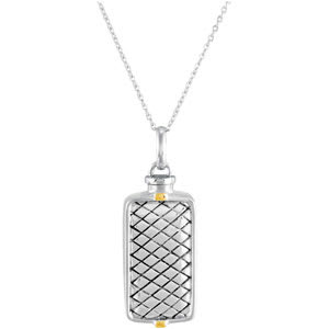 Checkerboard Rectangle Holder Pendant