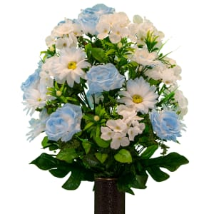 Light Blue Rose with White Daisy
