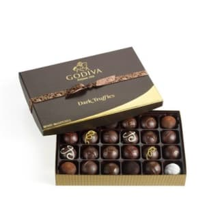 Godiva Dark Chocolate Truffles Gift Box (24 pc)