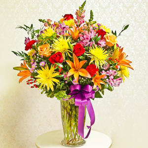 Multicolor Bright Vase Arrangement