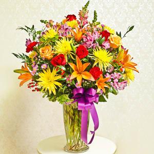 Multicolor Bright Vase Arrangement