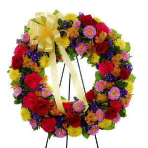 Multi-Color Standing Sympathy Wreath