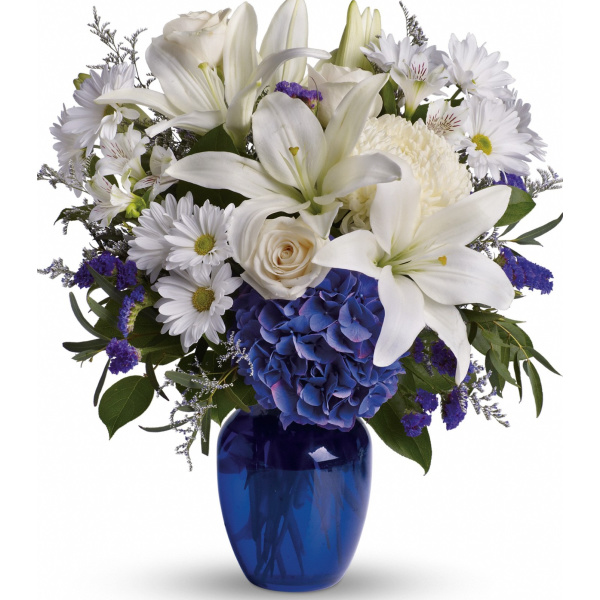 Beautiful in blue flowers the sympathy store mightylinksfo