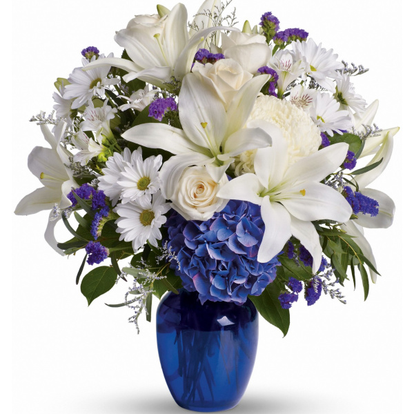 Beautiful In Blue Flowers The Sympathy Store