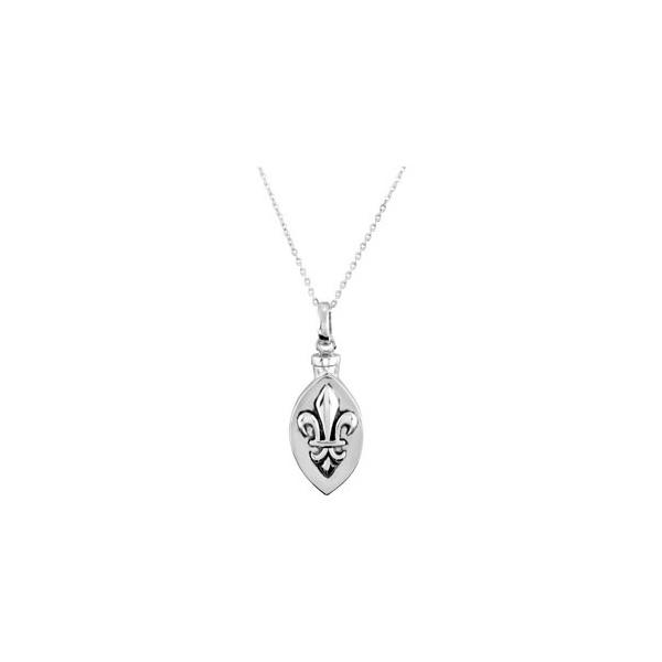 Fleur de lis pendant and chain cremation jewelry fleur de lis pendant and chain aloadofball Choice Image