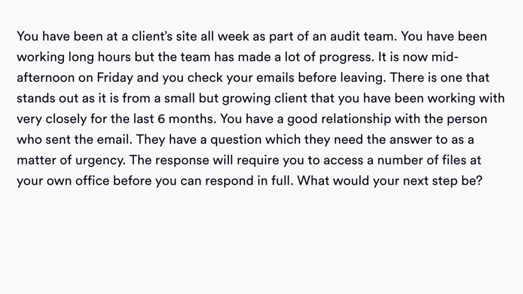 situational judgement practice question customer service