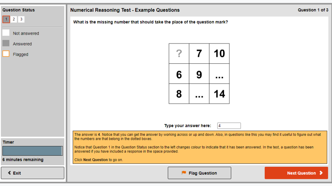 Revelian numerical reasoning test