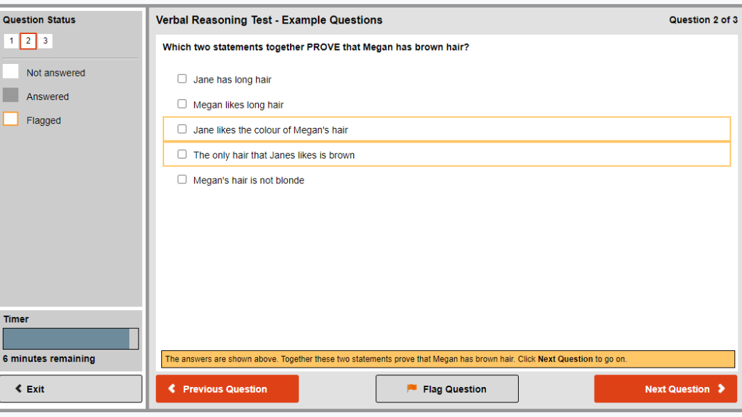 Revelian verbal reasoning test