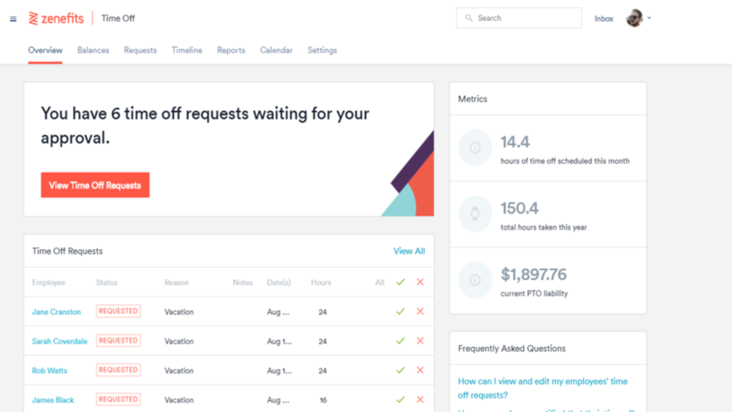 Zenefits hr for small businesses