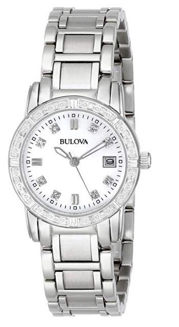 Bulova Women's 96R105 Diamond-Accented Stainless Steel Watch