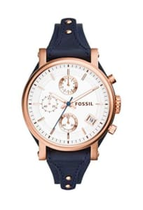 fossil original boyfriend chronograph leather watch