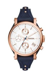 fossil original boyfriend chronograph leather watch
