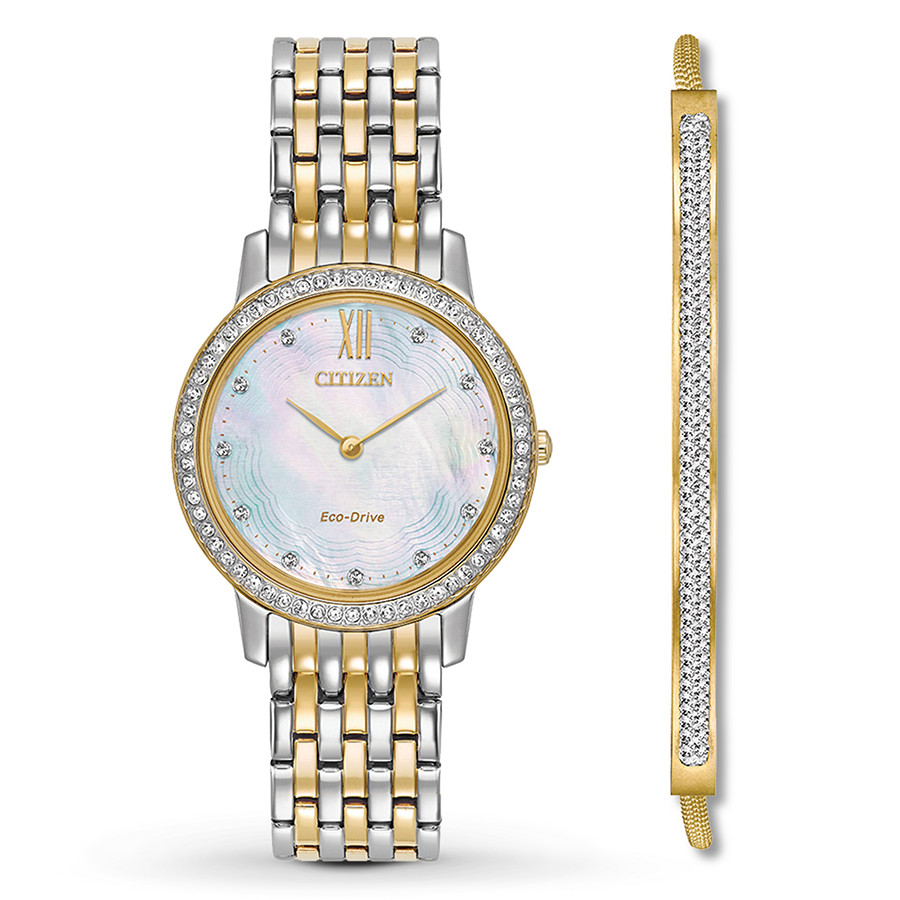 citizen silhouette crystal ladies watch
