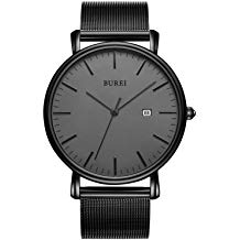 BUREI DIY Slim Quartz Wrist Watch