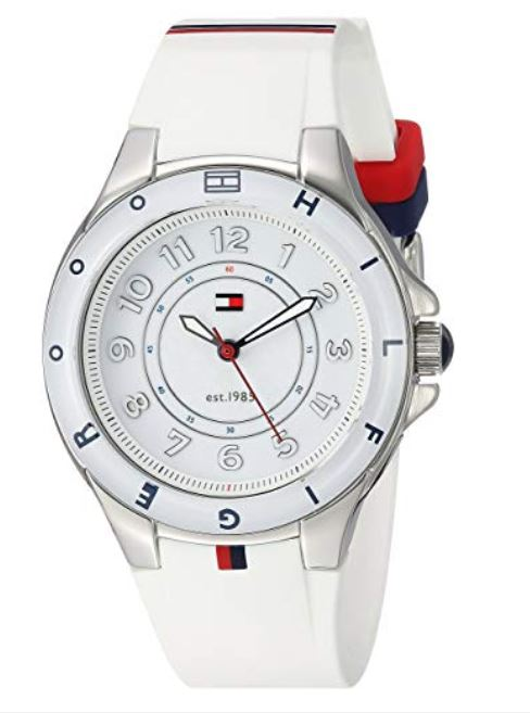 Tommy Hilfiger Women's 1781271 Stainless Steel Watch with White Silicone Band