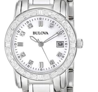 Bulova Women's 96R105 Diamond-Accented Stainless Steel Watch