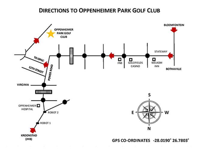 Oppenheimer Park Golf Club - map