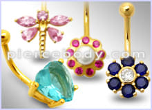 18K Belly Rings