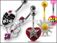 Silver Belly Rings