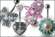 Non Dangle Belly Rings