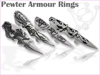Pewter Armor Rings