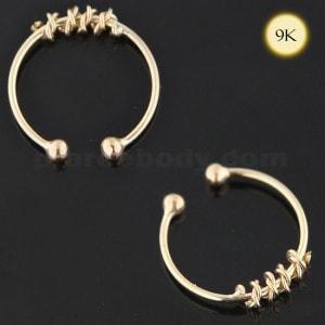 9K Yellow Gold Circular Rope Septum Ring