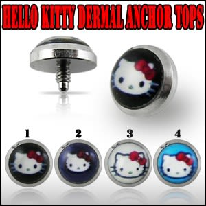 Hello Kitty Dermal Anchor Tops | Dermal Anchors