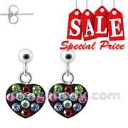 Dangling Heart Costume Earring