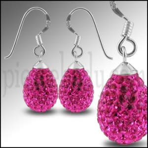 12mm Crystal Stone Tear Drop Earring