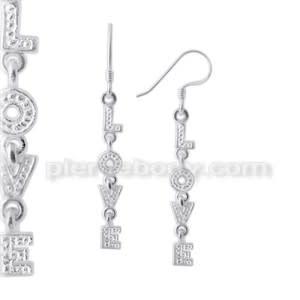 925 Sterling Silver LOVE Earring