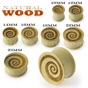 Laser Cut Swril Wood Ear Plug