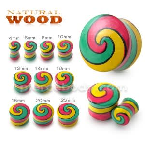 Swril Wood Ear Plug