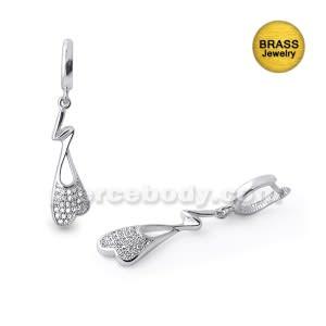 Micro Setting Jeweled Fancy Earring Dangle
