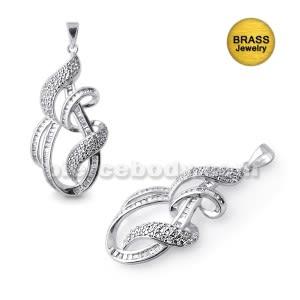 Brass With Rhodium Micro Setting Fancy Pendant Body Jewelry