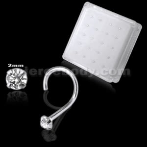 925 Silver Jeweled Nose Screw