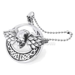 Stainless Steel Skeleton Wings Pendant