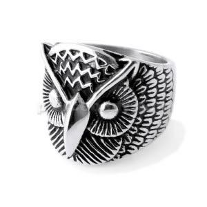 Owl Face finger ring