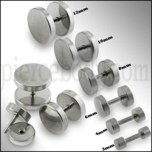 Surgical Steel Disc Fake Ear Plug
