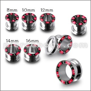 SS Screw Fit Numeric Flesh Tunnel