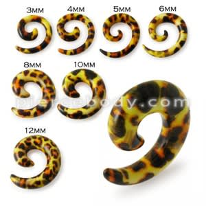 Acrylic Spiral Snail Taper Tunnel Earlet Ear Stretcher Expander Hanger