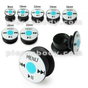 Ipod UV Internal Screw Fit Ear Tunnel