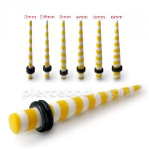 Yellow Stripe Straight Ear Expander