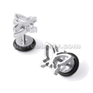 SS Butterfly Fake Ear Plug